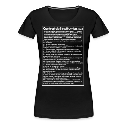 Contract of the teacher 1923 - Women's Premium T-Shirt