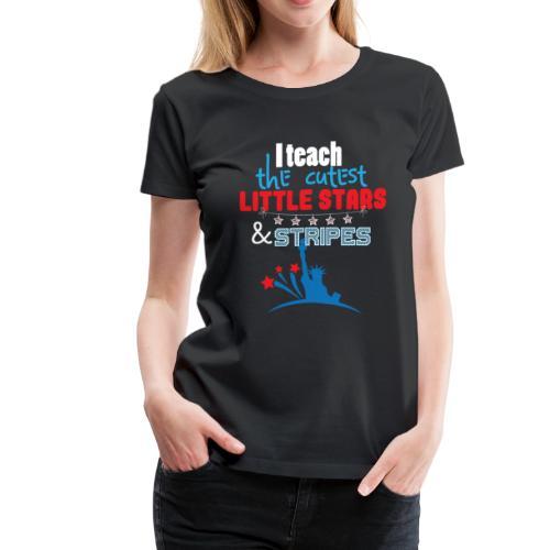 th Of July Teacher American Flag Teaching Gift - Women's Premium T-Shirt