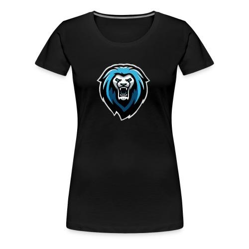 New NvarPlayzGamez Branding!! Cool Animated Lion - Women's Premium T-Shirt