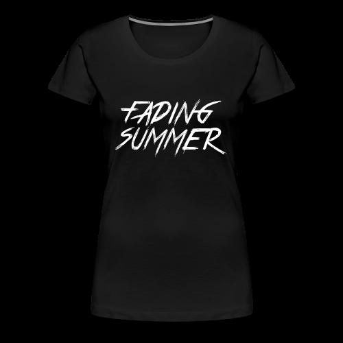 Fading Summer White Text Logo - Women's Premium T-Shirt