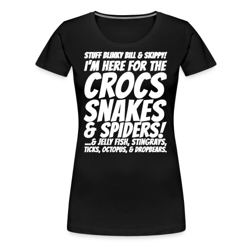 Crocks snakes and spiders shirt - Women's Premium T-Shirt