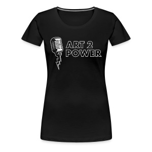 ART 2 POWER - white logo - Women's Premium T-Shirt