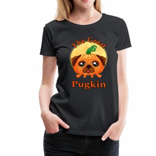 The Great Pugkin Halloween T-Shirt - Pug Shirt - Women's Premium T-Shirt