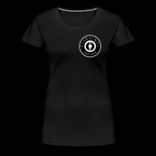 CLUBvinyl RECORDwhite - Women's Premium T-Shirt
