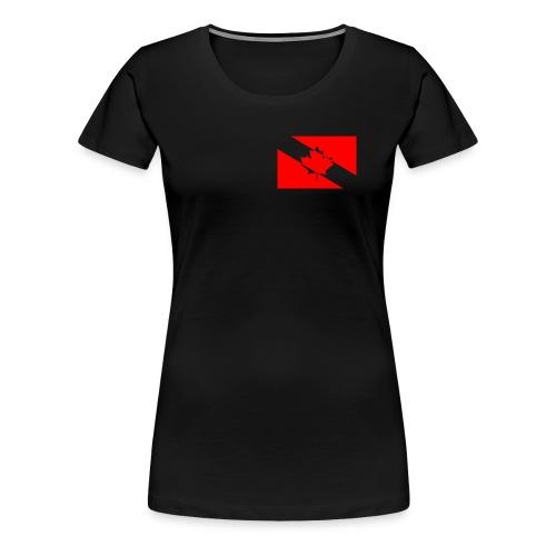 Clear White Dive Canada v. Small - Women's Premium T-Shirt