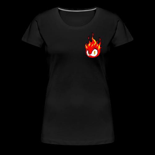 Fire Power YouTube Logo - Women's Premium T-Shirt