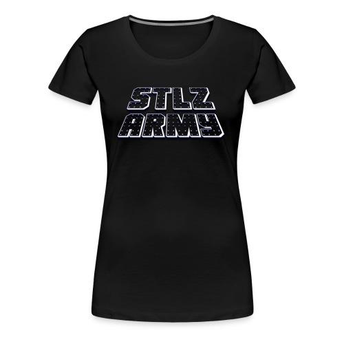 Stlz Army Logo (White Edition) - Women's Premium T-Shirt