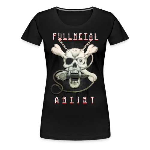 Heavy Metal FMA Skull - Women's Premium T-Shirt