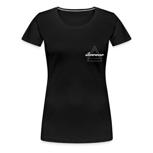Double triangles in white - Women's Premium T-Shirt