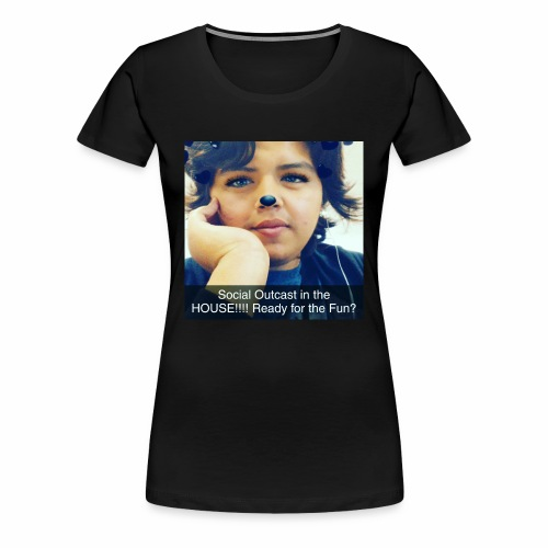 Social Outcast Art! - Women's Premium T-Shirt