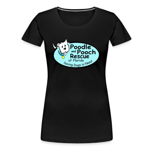 Poodle and Pooch Logo - Women's Premium T-Shirt