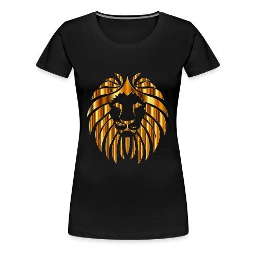 Golden Lion 10 No Background - Women's Premium T-Shirt