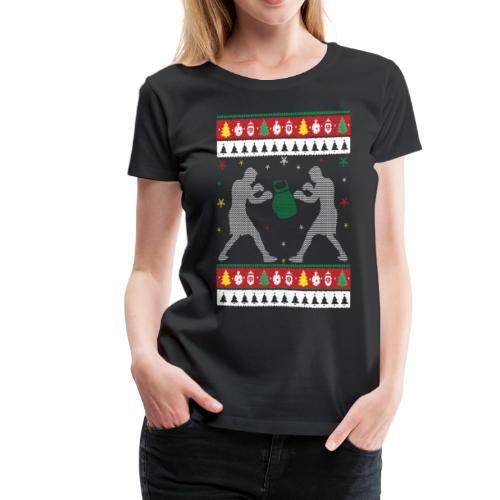 Boxing Ugly Christmas Sweater - Women's Premium T-Shirt