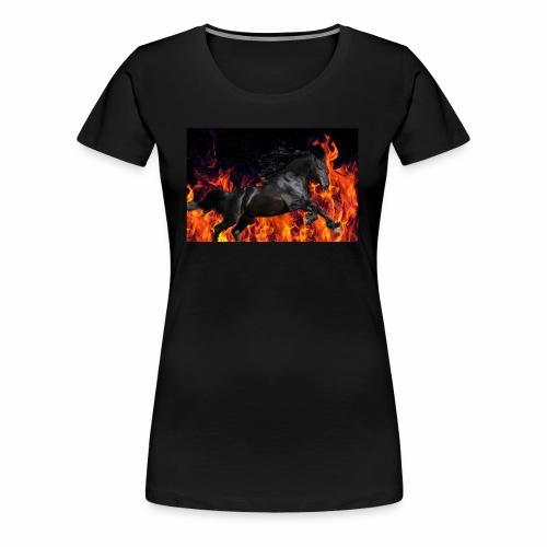 Flaming stallion - Women's Premium T-Shirt