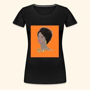 Black Curly Kinky Frizzy Hair - Women's Premium T-Shirt