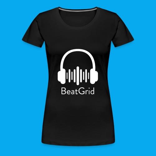BeatGrid Classic White Logo - Women's Premium T-Shirt