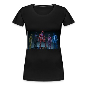 Boiis power ranger cosplay - Women's Premium T-Shirt