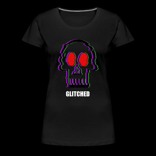 Glitched Skull - Women's Premium T-Shirt