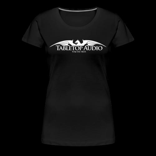 Tabletop Audio: Logo White - Women's Premium T-Shirt