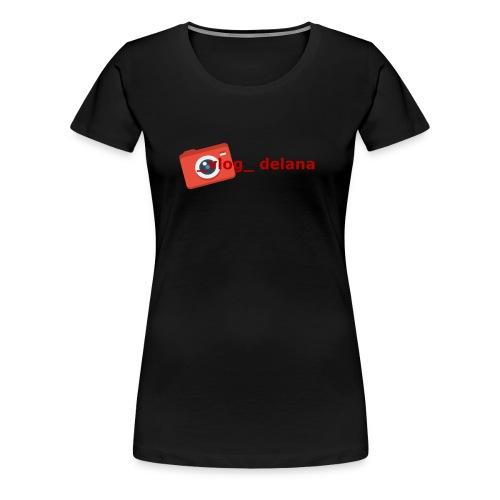 _vlog_ delana Logo Design - Women's Premium T-Shirt