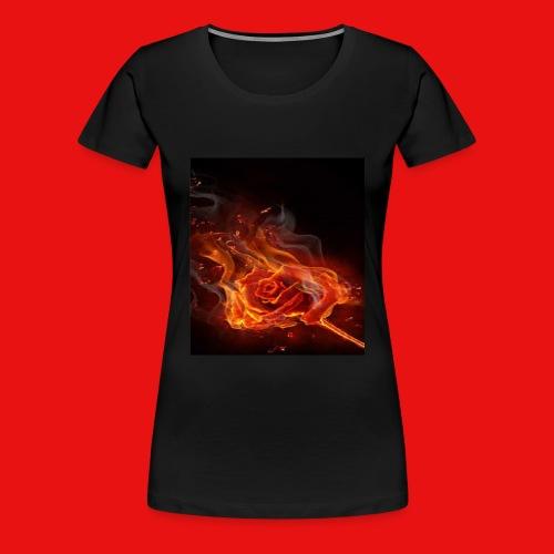 Burning Rose - Women's Premium T-Shirt