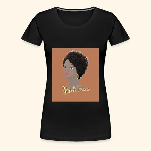Kinky Curly Black Pearl Natural Hair - Women's Premium T-Shirt