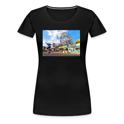 Coney Island Kickflip - Women's Premium T-Shirt