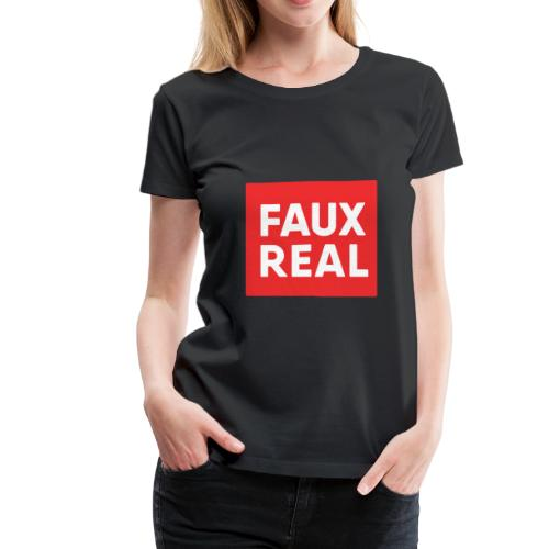 Faux Real Red - Women's Premium T-Shirt