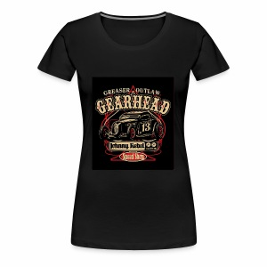 johnny rebel t shirt design gearhead by russellink - Women's Premium T-Shirt