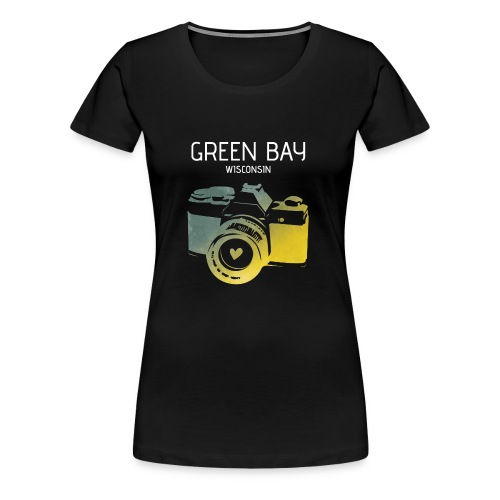 Green Bay camera with heart - Women's Premium T-Shirt