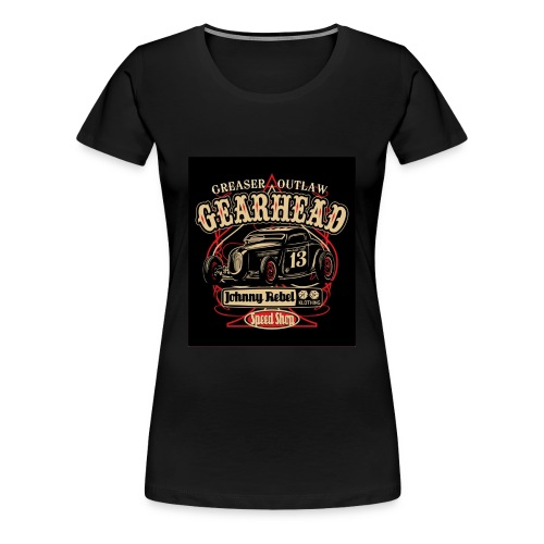 johnny rebel t shirt design gearhead by russellink - Women's Premium T-Shirt