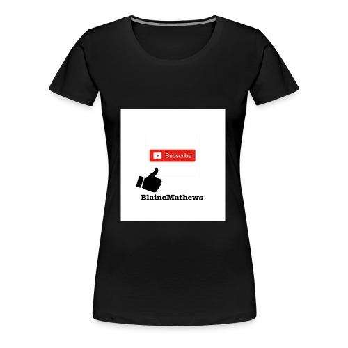 Youtube Like and Subscribe - Women's Premium T-Shirt