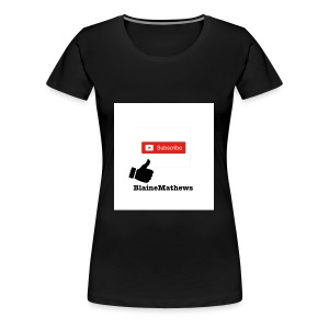 Youtube Like and Subscribe - Women's Premium T-Shirt