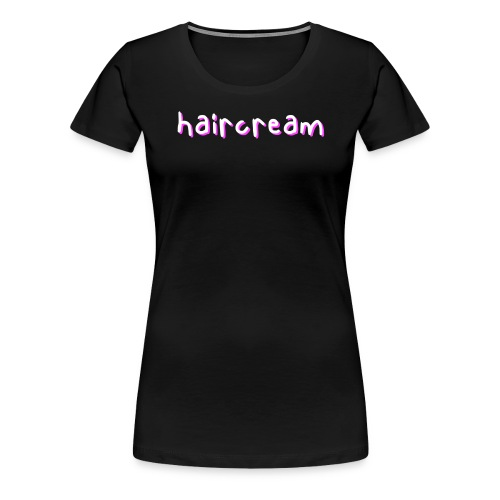 haircream word logo - Women's Premium T-Shirt