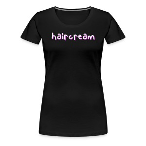 haircream word logo - Women's Premium T-Shirt