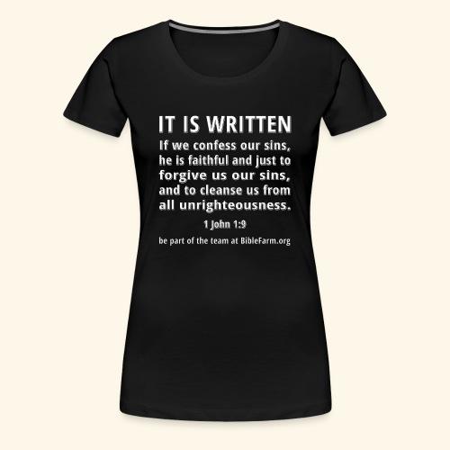 sample bible verse - Women's Premium T-Shirt