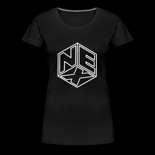 Nexagonal Logo (White) - Women's Premium T-Shirt
