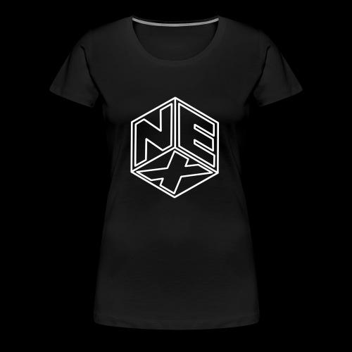 Nexagonal Logo (White) - Women's Premium T-Shirt