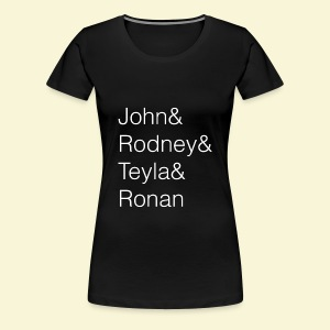 Stargate Atlantis Ampersand Names - Women's Premium T-Shirt