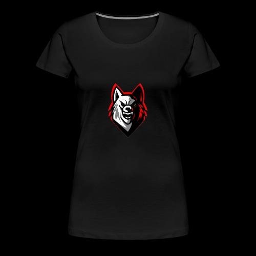 wolf logo by supreme_gamer7 - Women's Premium T-Shirt