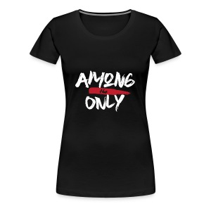 Among the Only White logo - Women's Premium T-Shirt