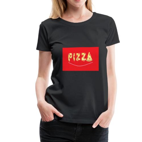 pizza in red - Women's Premium T-Shirt