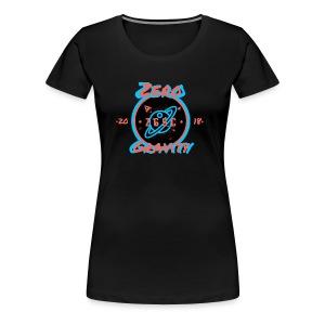 zero gravity 3D logo - Women's Premium T-Shirt