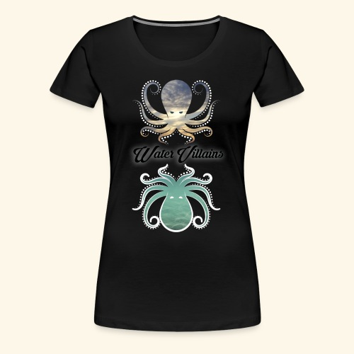 Water Villains Sky and Sea Logo - Women's Premium T-Shirt