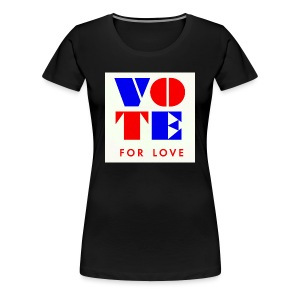 vote4love-sample - Women's Premium T-Shirt