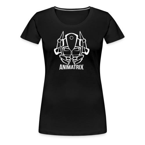 Animatrix: Hybrid Head Line-art Design - Women's Premium T-Shirt