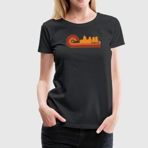 Retro Style Philadelphia Pennsylvania Skyline - Women's Premium T-Shirt