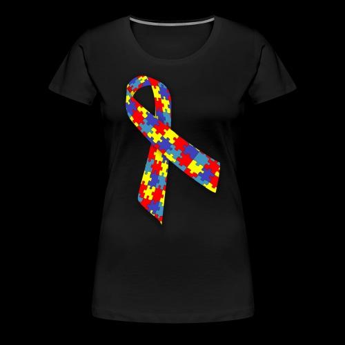autism awareness ribbon - Women's Premium T-Shirt