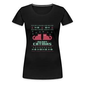 Meeowee Christmas Ugly T-Shirt - Women's Premium T-Shirt