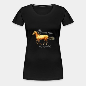 Never live without horse lover art polygon - Women's Premium T-Shirt